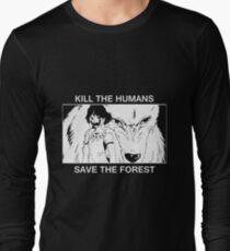 Tuer les humains, sauver la forêt T-shirt manches longues