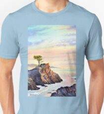 Lone Cypress Tree Pebble Beach California Unisex T-Shirt
