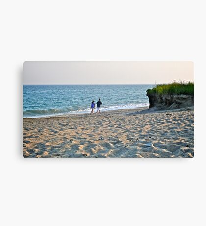 A Young Couple Walk Along The Sea - Rhode Island  *Featured Canvas Print