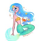 Cute Kawaii Mermaid Girl by moon-eyes