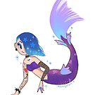 Goth Kawaii Mermaid Girl by moon-eyes