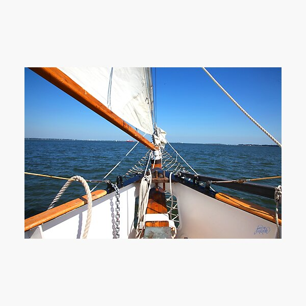 Sailing Out to Sea Photographic Print
