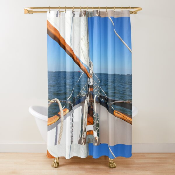 Sailing Out to Sea Shower Curtain