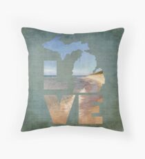 Love in Michigan Throw Pillow