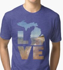 Love in Michigan Tri-blend T-Shirt