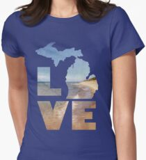 Love in Michigan Women's Fitted T-Shirt