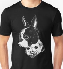 Tattooed Boston Terrier  Unisex T-Shirt