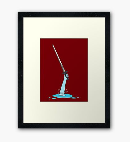 Excalibur and the Lady of the Puddle Framed Print