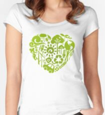 Eco heart Women's Fitted Scoop T-Shirt