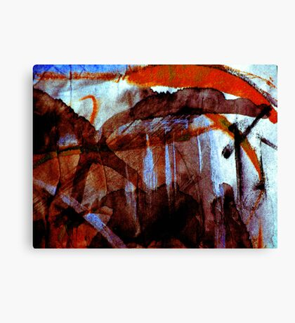 amber life forms.... Canvas Print