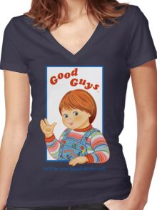 Child's Play - Good Guys - Chucky Women's Fitted V-Neck T-Shirt