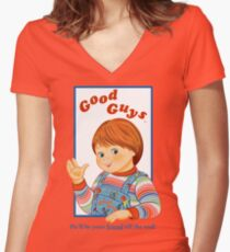 024a4bac Child's Play - Good Guys - Chucky Fitted V-Neck T-Shirt