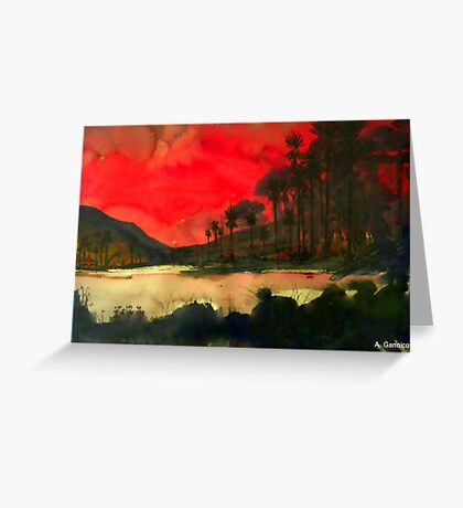 Pacific Sunset Greeting Card