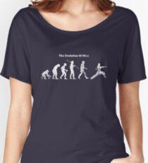 Evolution of Man - Martial Arts - Dark [G] Women's Relaxed Fit T-Shirt