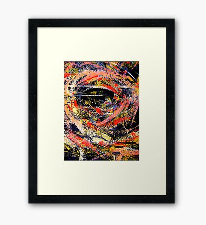 jungle eye... peering out Framed Print