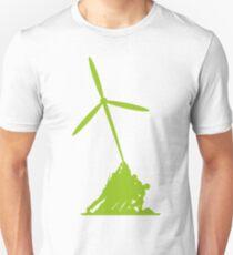Raising wind turbines Unisex T-Shirt