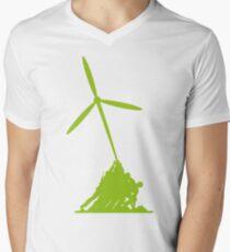 Raising wind turbines Men's V-Neck T-Shirt