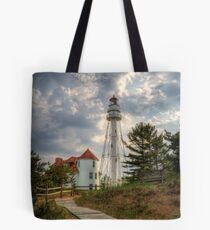Rawley Point Lighthouse Tote Bag