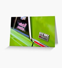 Green Pacer Hemi Greeting Card