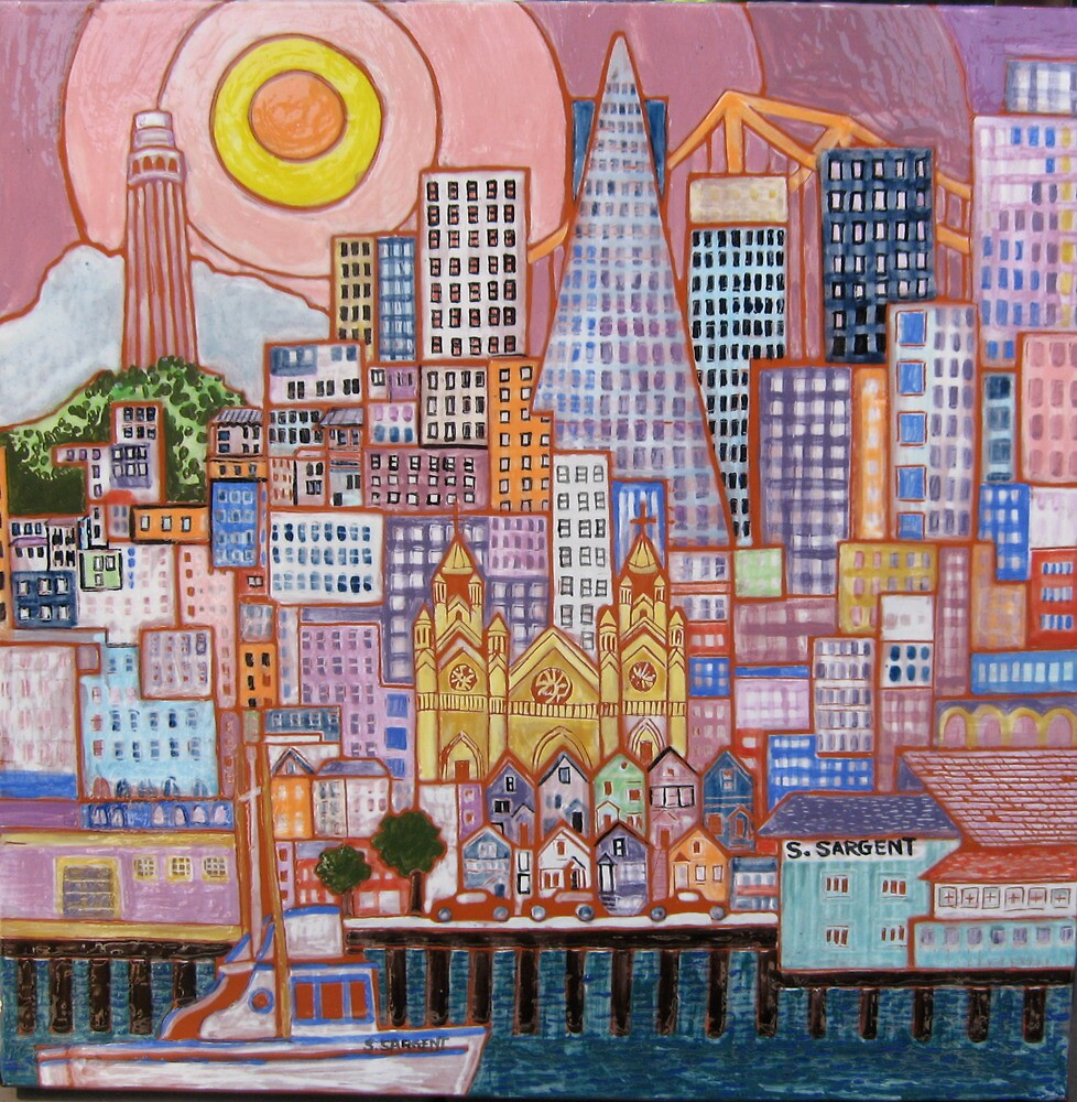 San Francisco Tile by Sally Sargent