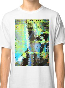 Lake surface reflecting tree blossoms Classic T-Shirt