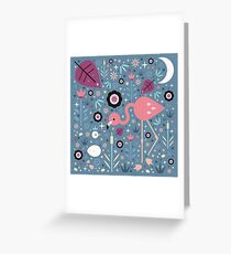 Flamingo & Chick  Greeting Card