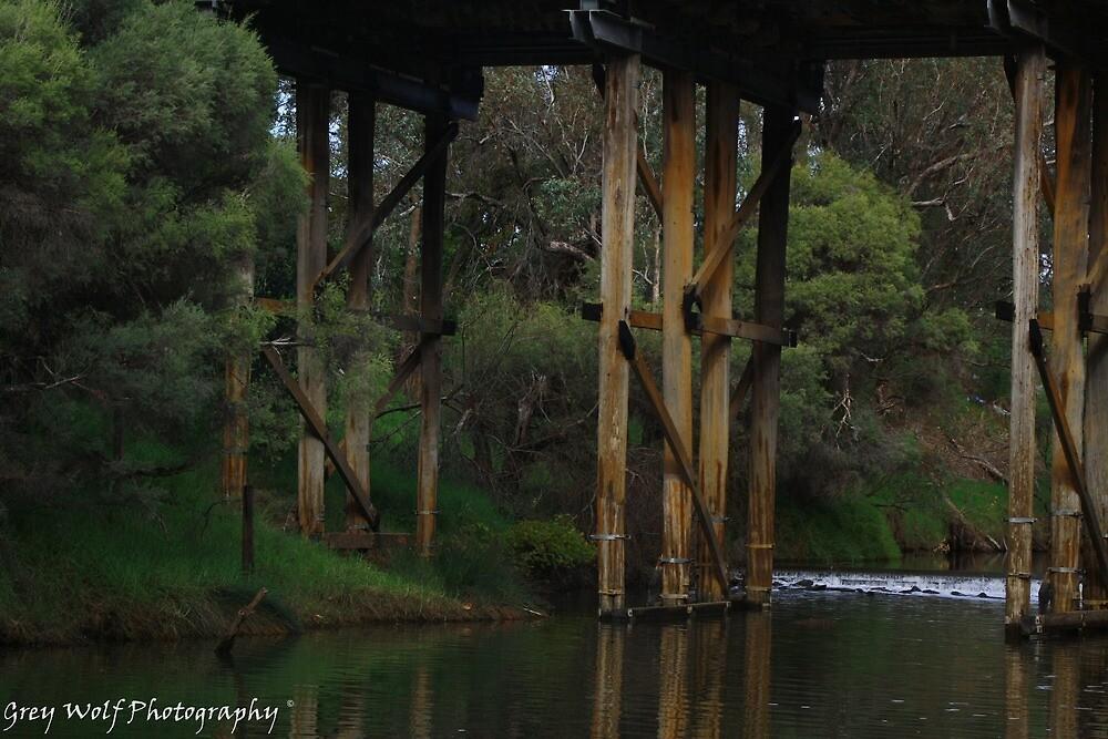 Murray River Bridge - Pinjarra WA by Brien Bland