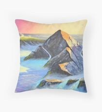 Sunset over the Sea Throw Pillow