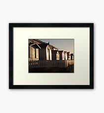 Beach Huts Westward Ho! Framed Print