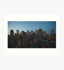 Manhattan in motion - uptown Art Print
