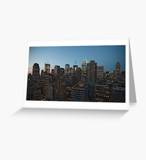 Manhattan in motion - uptown Greeting Card