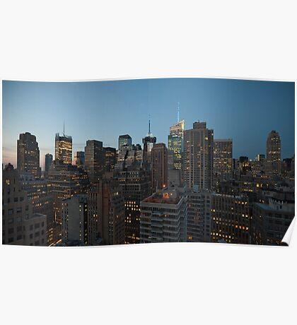 Manhattan in motion - uptown Poster