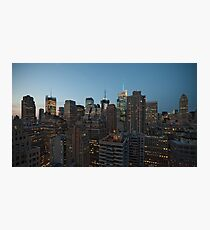 Manhattan in motion - uptown Photographic Print