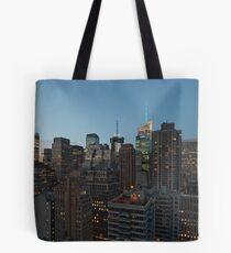 Manhattan in motion - uptown Tote Bag