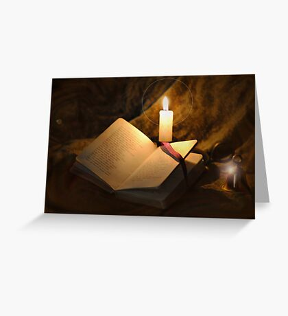 Bell, Book, and Candle Greeting Card