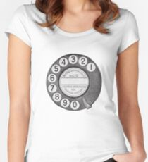 Telephone Dial Women's Fitted Scoop T-Shirt