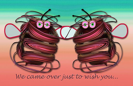 Alien bees card with text by walstraasart