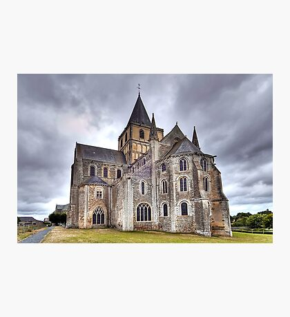 Church of Saint-Vigor de Cerisy-la-Forêt Photographic Print