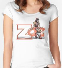 Zoe 01 Women's Fitted Scoop T-Shirt