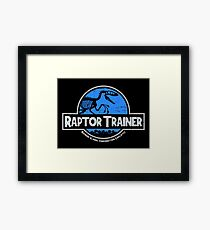 Jurassic World Raptor Trainer Framed Print