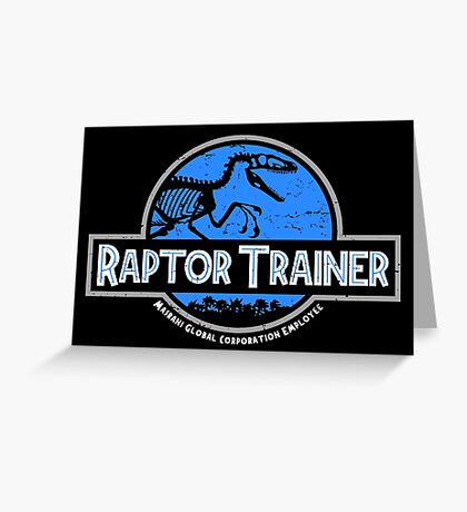 Jurassic World Raptor Trainer Greeting Card