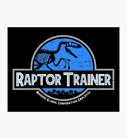 Jurassic World Raptor Trainer Photographic Print