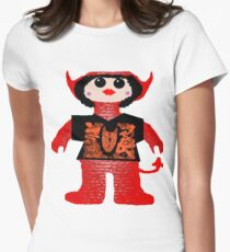 Little Devil In Disguise Rag Doll Womens Fitted T-Shirt