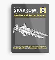 Sparrow Service and Repair Manual Metal Print