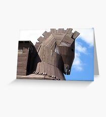 Troy Horse Greeting Card