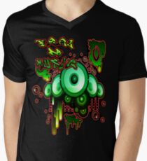 Urban Music Graffiti Style # 1 Feel DA Music Men's V-Neck T-Shirt