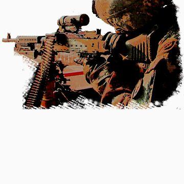 Machine Gunner by alienmisprint