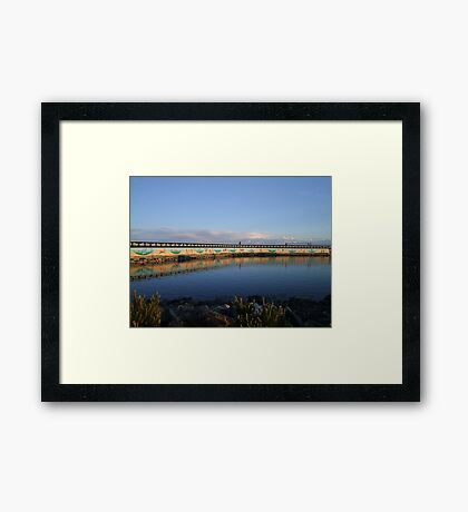 Land And Sea Mural Framed Print