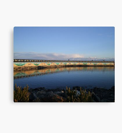 Land And Sea Mural Canvas Print