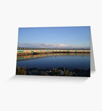 Land And Sea Mural Greeting Card